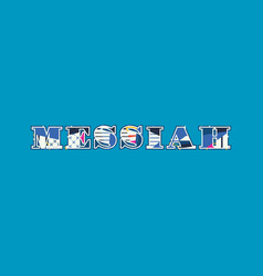 Messiah concept word art vector