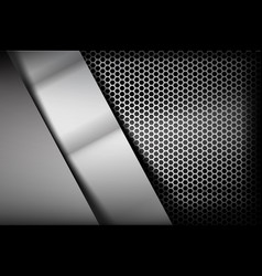 metallic steel and honeycomb element background vector image