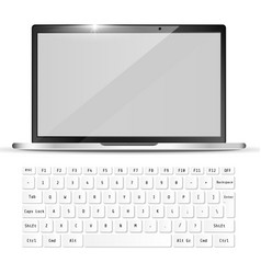 modern realistic laptop and white keyboard vector image