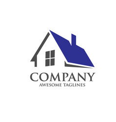 modern roofing logo concept vector image