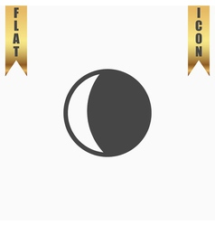 Moon icon vector