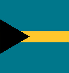 National flag of commonwealth of the bahamas vector