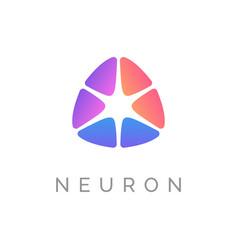 Neuron logo design concept abstract colorful sign vector
