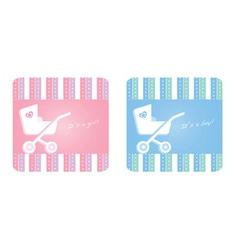Newborn card vector
