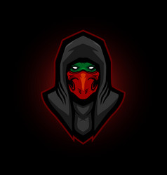 Ninja e sports logo assassin vector