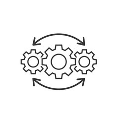 Operation project icon in flat style gear process vector