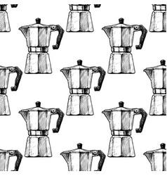 pattern with moka pot vector image