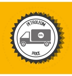 Petroleum oil barrel truck vector