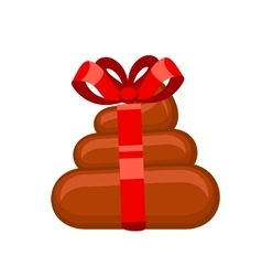 Poo gift flat vector