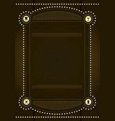 Prohibition era background and frame design vector