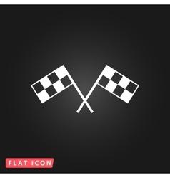 Racing flag flat icon vector