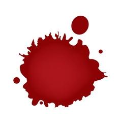 Realistic blood splatters vector image