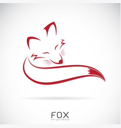 Red fox design on white background vector