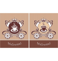 Royal Cup of coffee vector
