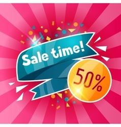 Sale time banner advertising flyer for commerce vector