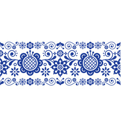 Scandinavian folk art retro long pattern vector