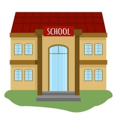 School building vector image