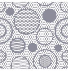 Seamless lace pattern with circles vintage vector