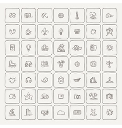 Set of Doodle Travel Icons vector