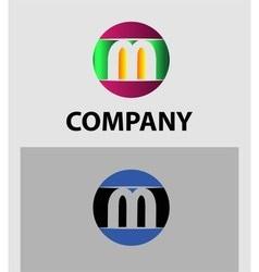 Set of letter M logo icons design template element vector image