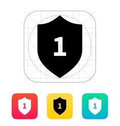 Shield trophy icon vector