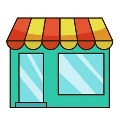 shop icon cartoon style vector image vector image