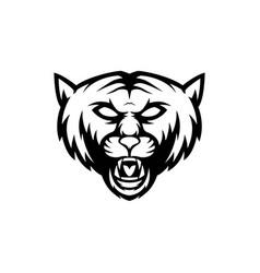 simple wild cat logo vector image
