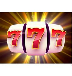 Slot machine wins jackpot 777 big win casino vector