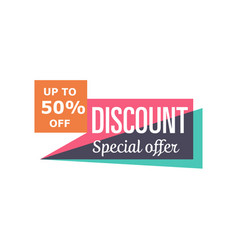 special discount price isolated sticker vector image
