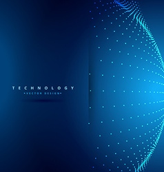 Technology background with sphere dots vector