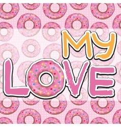 Texture with donuts vector