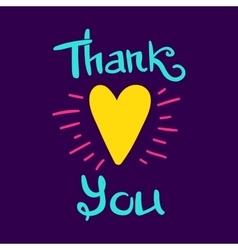 Thank You Heart vector