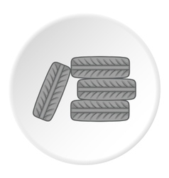 Tires icon cartoon style vector
