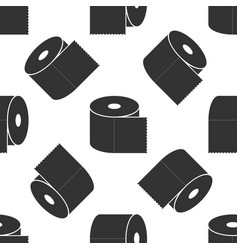 toilet paper roll icon seamless pattern vector image