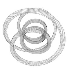 Torus outline rendering of 3d vector