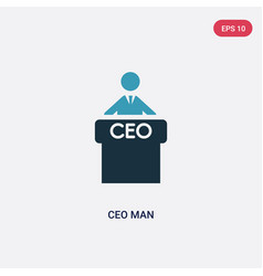 Two color ceo man icon from people concept vector