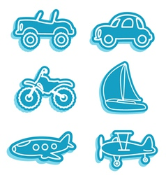 Vehicle icons vector