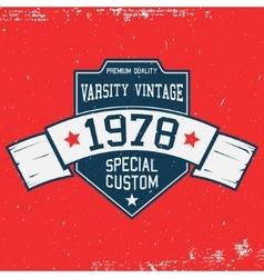 Vintage t-shirt template vector