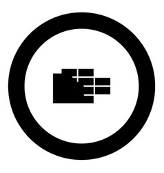 Wall black icon in circle vector