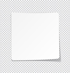 White paper sheet with shadow vector image