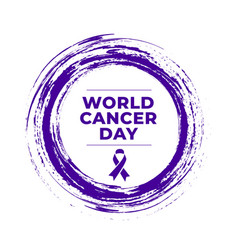 world cancer day awareness concept poster design vector image