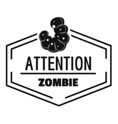 Zombie logo simple black style vector