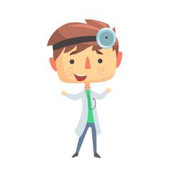boy doctor kids future dream professional vector image vector image