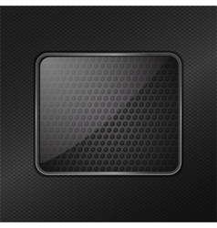 glass frame metallic background vector image