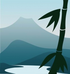 mountain river vector image