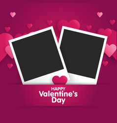 postcard happy valentines day with a blank vector image vector image