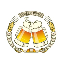 Retro styled label of beer or brewery vector image