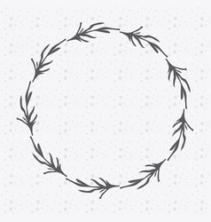 rustic emblem branches icon vector image vector image