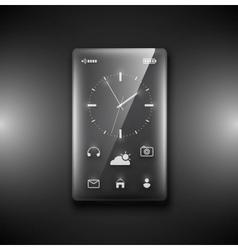 Transparent glass phone vector image