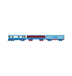 Transport train vector image